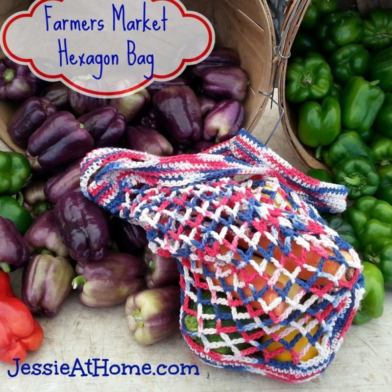 Farmers Market Hexagon Bag