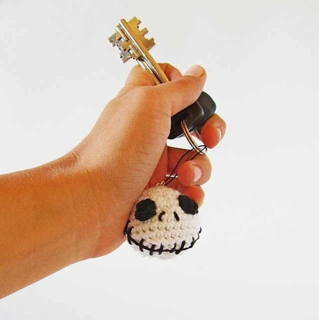 Halloween Jack Skellington Keychain